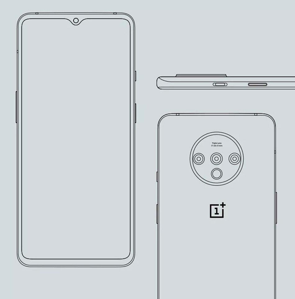 Hbf68389dc4b440f8a7111a400630688b6 OnePlus 7T Global Version 8GB 128GB Snapdragon 855 Plus Octa Core 48MP Triple Cameras 90Hz Fulid AMOLED 3800 mAh UFS 3.0 NFC