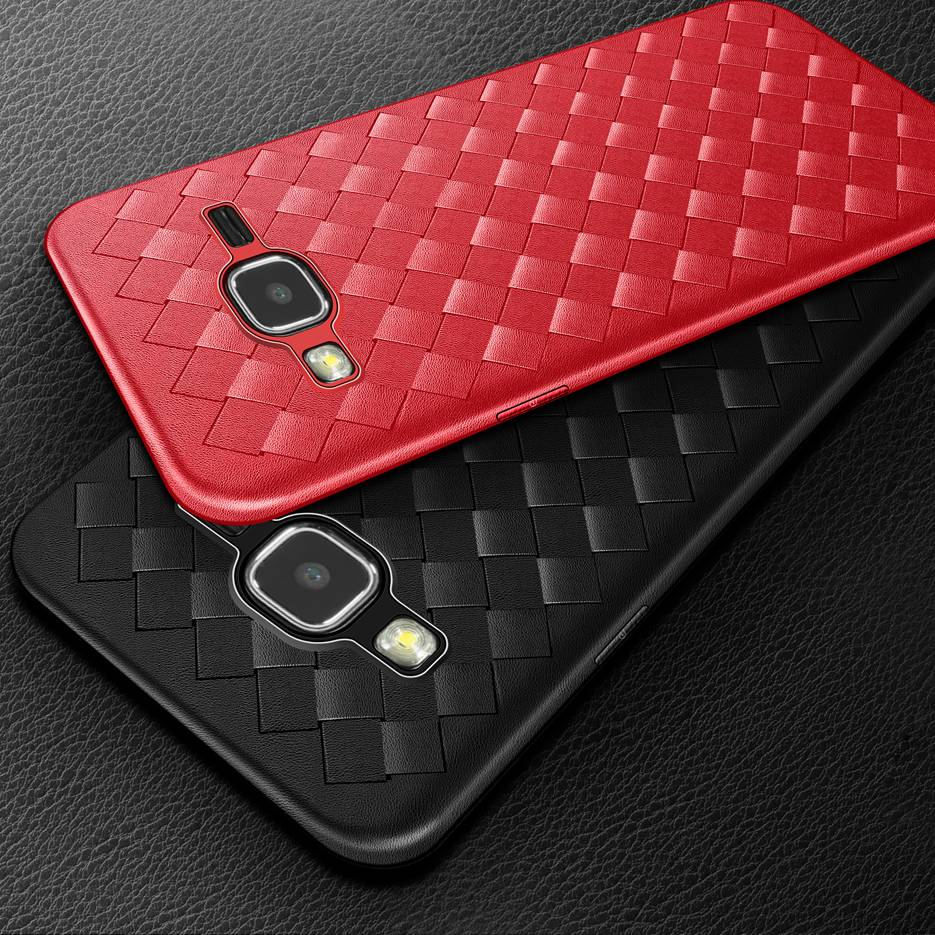 <font><b>For</b></font> Funda <font><b>Samsung</b></font> J1 2016 <font><b>Case</b></font> Soft Silicone Back Cover Weaving TPU <font><b>Cases</b></font> <font><b>For</b></font> <font><b>Samsung</b></font> <font><b>Galaxy</b></font> J1 2016 J120 <font><b>J120F</b></font>/ds Covers Bumper image