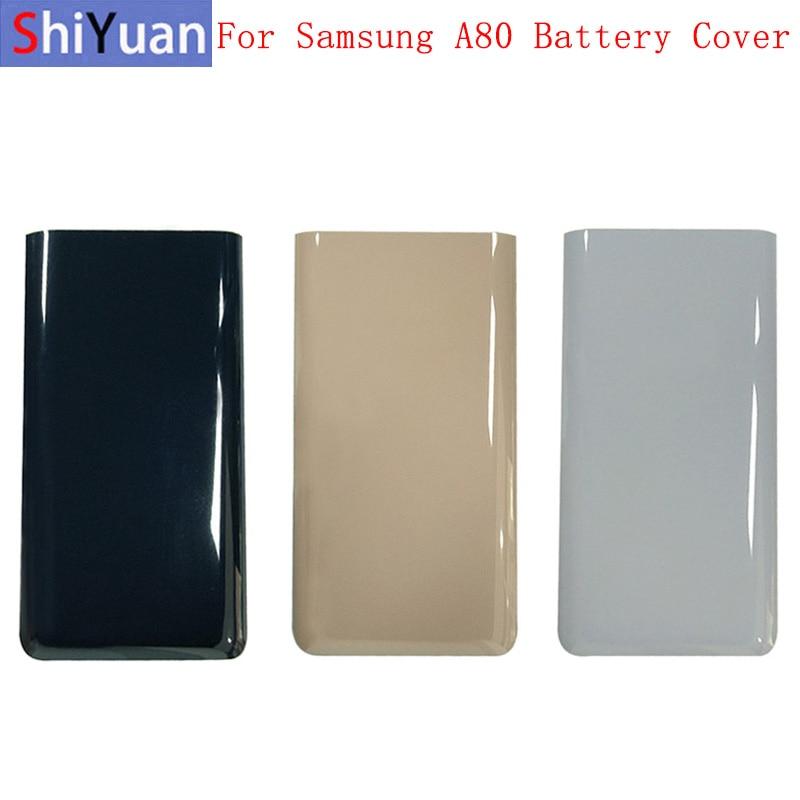 Крышка батарейного отсека, задняя крышка корпуса, задняя крышка для Samsung A80 A805F, Крышка батарейного отсека с логотипом