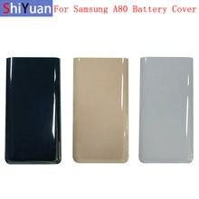 Caso da bateria capa porta traseira habitação caso de volta para samsung a80 a805f bateria capa com logotipo