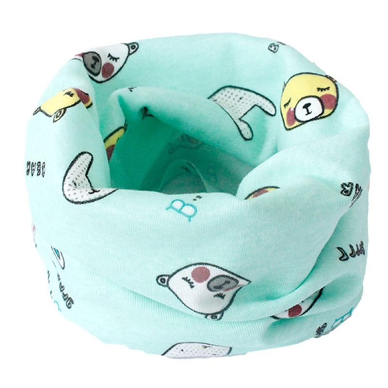 Весенний детский хлопковый шарф, теплый шарф для маленьких детей, осенне-зимние шарфы с героями мультфильмов для мальчиков и девочек, детский воротник с круглым вырезом, волшебный шейный платок - Цвет: 02