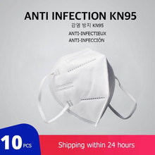10 pcs/lot KN95 Dustproof Anti-fog And Breathable Face Masks 95% Filtration Anti Virus N95 Masks Features as KF94 FFP2