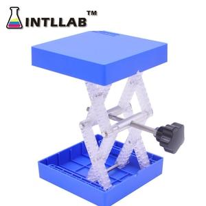 Image 5 - 実験室昇降台スタンドラックはさみラボジャック 100 × 100 ミリメートル (4 × 4 ) プラスチックと耐熱性ステンレス鋼
