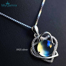 Genuine 925 Sterling Silver Necklace Pendant For Women  Crystal Fine jewelry Adjustable Chain Jewellery Valentines Gift все цены
