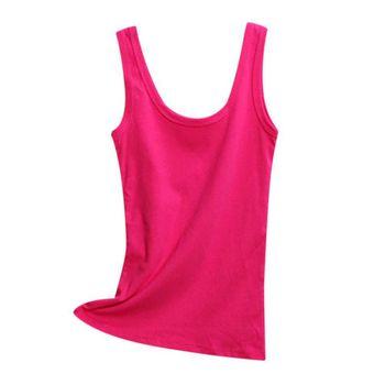 2019 Spring Summer Tank Tops Women Sleeveless Round Neck Loose T Shirt Ladies Vest Singlets Camisole Cotton Ladies Thin Vest 1 8