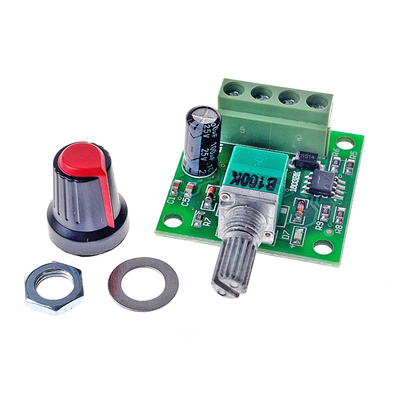 30W 2A DC 1.8V -15V PWM Motor Speed Controller Regulator Low Voltage Fan Speed Control Switch PWM Adjustable Drive 5V 12V