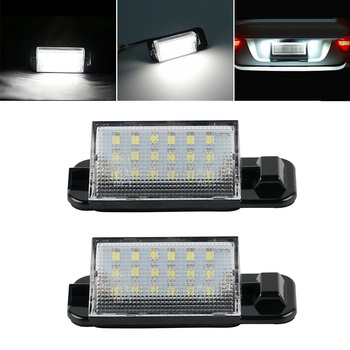 Car LED License Number Plate Light Lamp Bulb For BMW 3 Series E36 Saloon Touring Cabriolet Compact 1992-1998 1997 1996 1995 1994 image