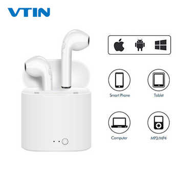 New i7s TWS Mini Wireless Earphones HiFi Stereo Headset Bluetooth Earbuds Headphones With Mic For iPhone XS/X/8/7 Huawei P20 - Category 🛒 All Category