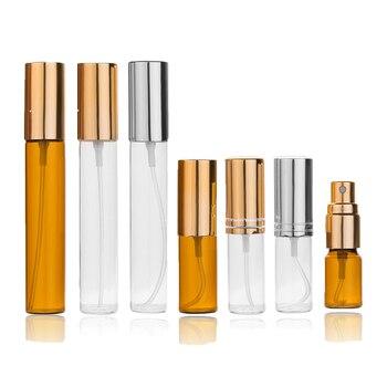 Botella de aluminio con aerosol atomizador portátil de 3ml, 5ml, 10ml, atomizador de Perfume, contenedor vacío de viaje, Mini frascos de Perfume rellenables 10 Uds.