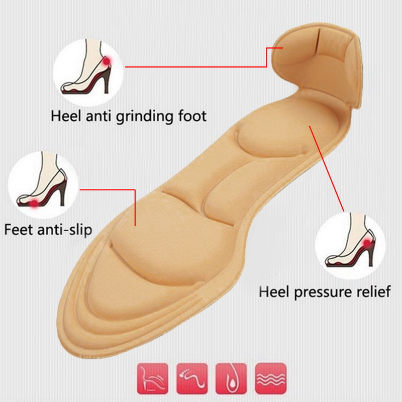 Hot Sale Dihope 1 Pair Comfort Breathable 2020 Women's Fashion Insoles Massage High-heeled Shoes Insoles Anti-slip