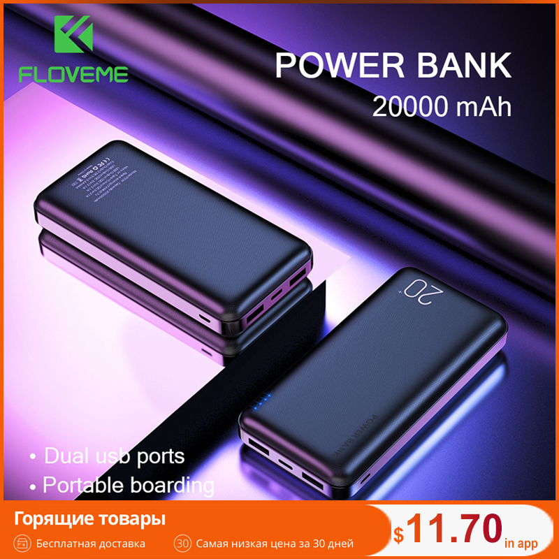 FLOVEME Power-Bank External-Battery-Charger Mobile-Phone Xiaomi Mi Portable 20000mah title=