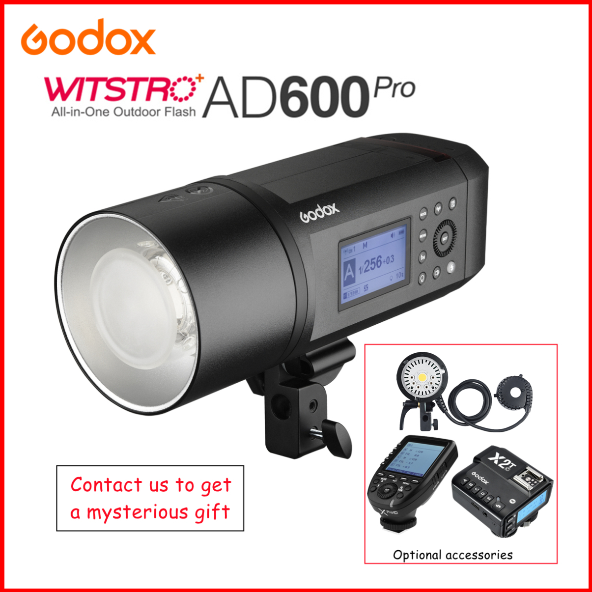Godox AD600Pro HSS 1/8000s TTL 2.4G Wireless Outdoor Flash Photography Light Speedlight For Canon Nikon Sony Fuji Olympus Pentax