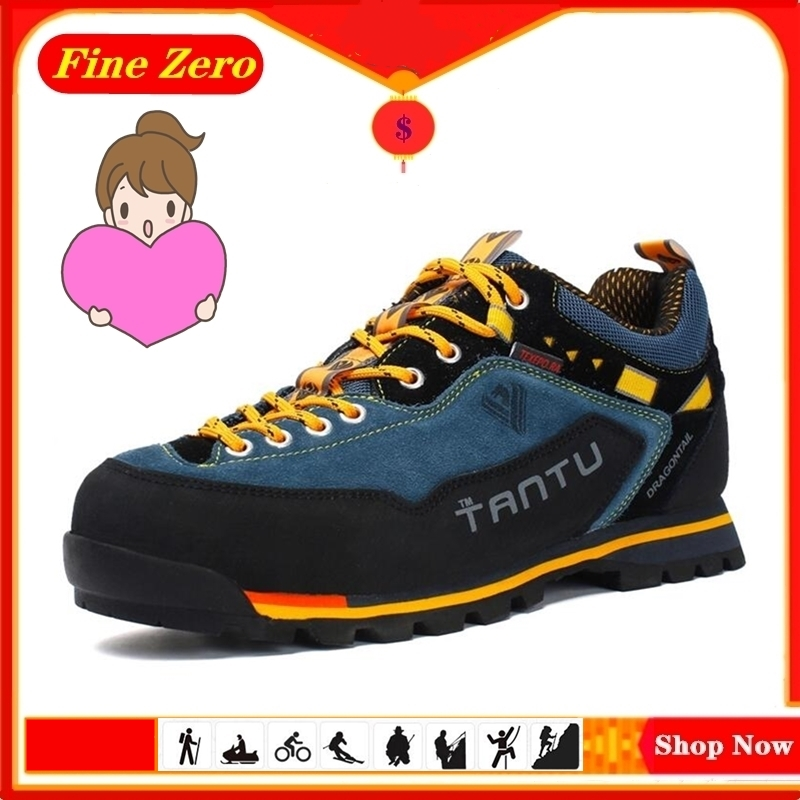 New Quality Waterproof Hiking Shoes Non-slip Wear Mountain Climbing Shoes Outdoor Hiking Boots Men's Hunting Trekking Sneakers