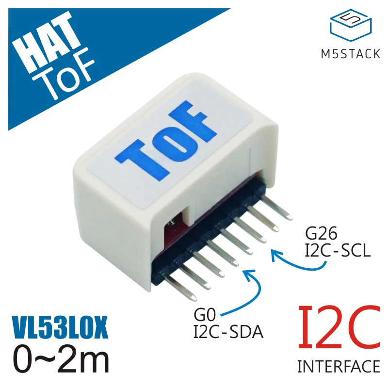M5StickC ESP32Mini IoT Development Board Compatible ToF HAT( VL53L0X And 940nm VCSEL) High Precision Laser-Ranging Sensor