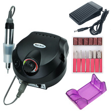 35000/20000 RPM Electric Nail Drill Machine Set Mill Cutter Bits for Manicure Tips Gel Strong Apparatus File