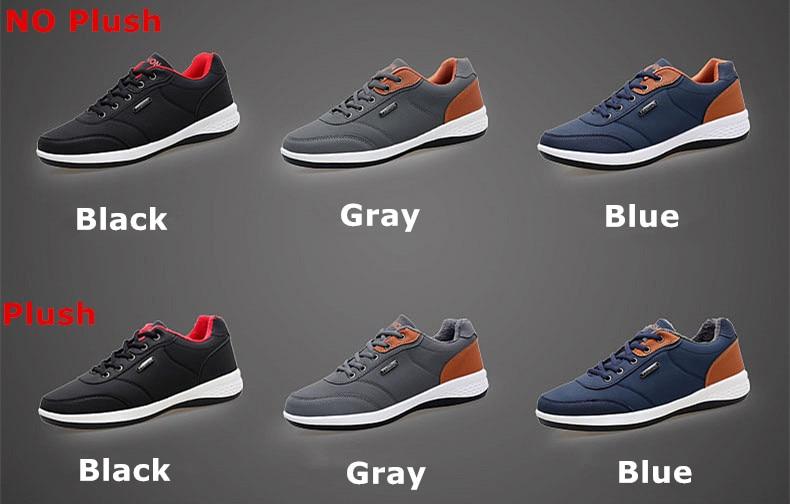 Men's Winter Sneakers PU Leather 8