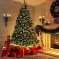 Árvore de natal decoração artificial led luz com pernas de metal sólido para festa em casa novo