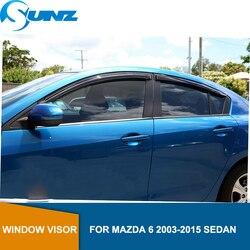 Für Mazda 6 2003-2015 Schwarz Fenster Visier Für Mazda 6 2003 2004 2005 2006 2007 2008 2009 2010 2011 2012 2013 2014 2015 LIMOUSINE SUNZ
