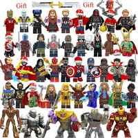 Set legoing Marvel Avengers 4 Endgame Assembly Building Blocks Toys Figures Iron Man legoed christmas Toys for kids