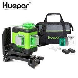 Huepar 3D поперечная линия самонивелирующийся лазерный уровень 3x360 зеленый луч трехплоское выравнивание и выравнивание лазерный инструмент с ...
