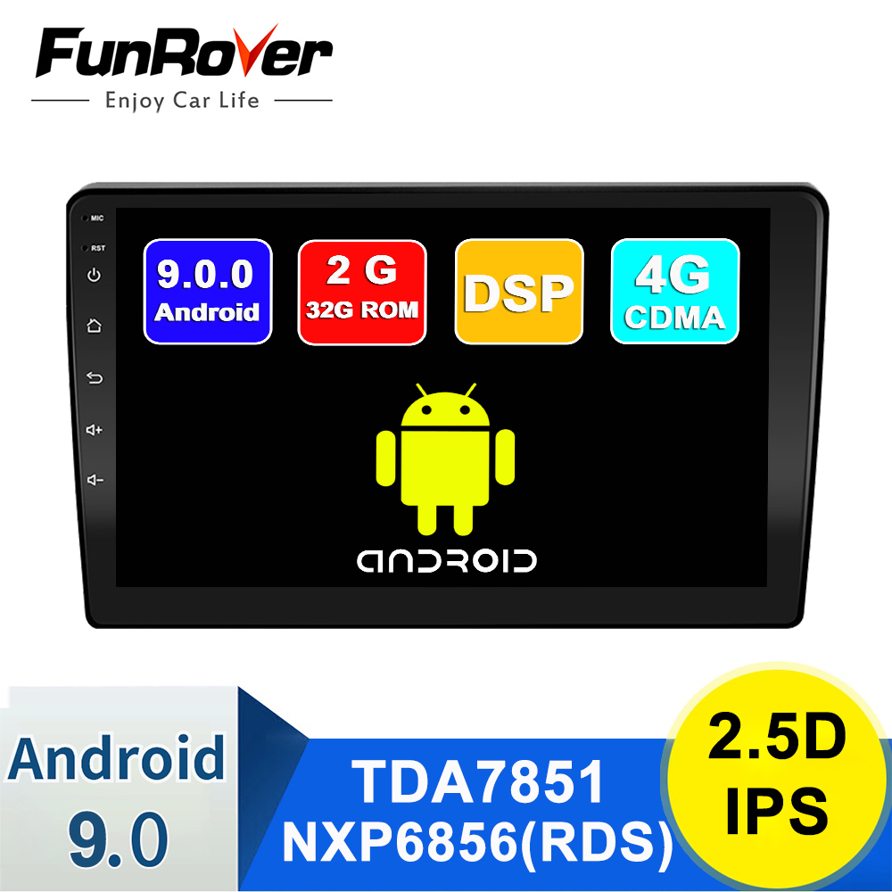 Funrover Android 9.0 LADA BA3 Granta Sport 2din Car Radio Multimedia Player autoradio Navigation GPS 2.5D IPS dvd dsp rds 2G+32G image