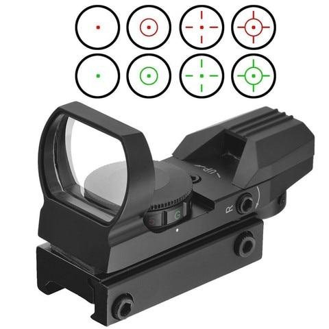 laserspeed holografica red e green dot sight tactical reflex 4 diferentes reticulos tatico ak ar15