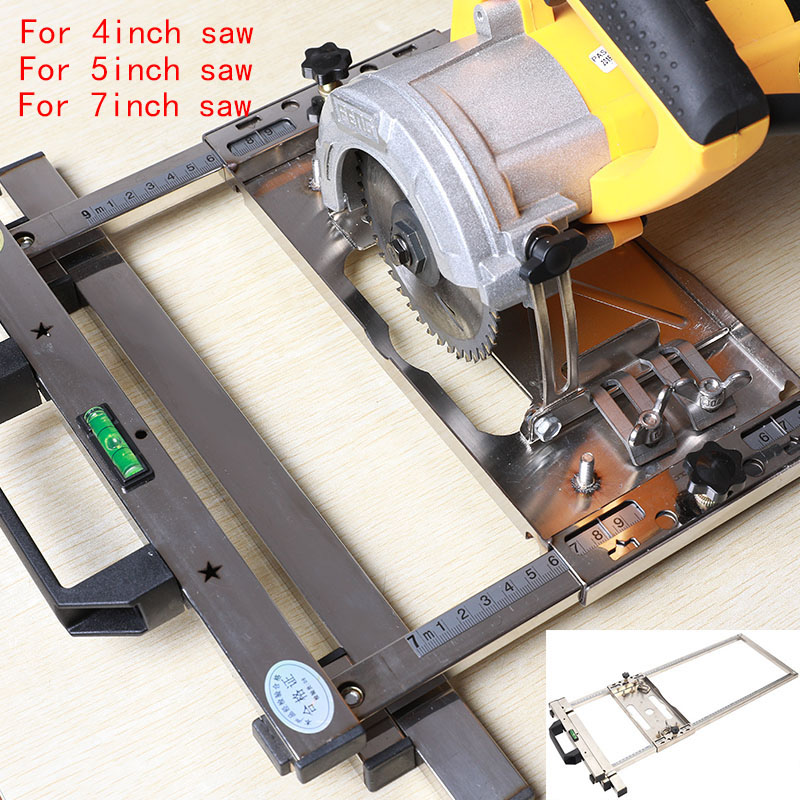 Electricity Circular Saw Edge Guide Position Cutting Wood Board Tool Wood Trimming Machine Router Milling Circle Cutting Tools