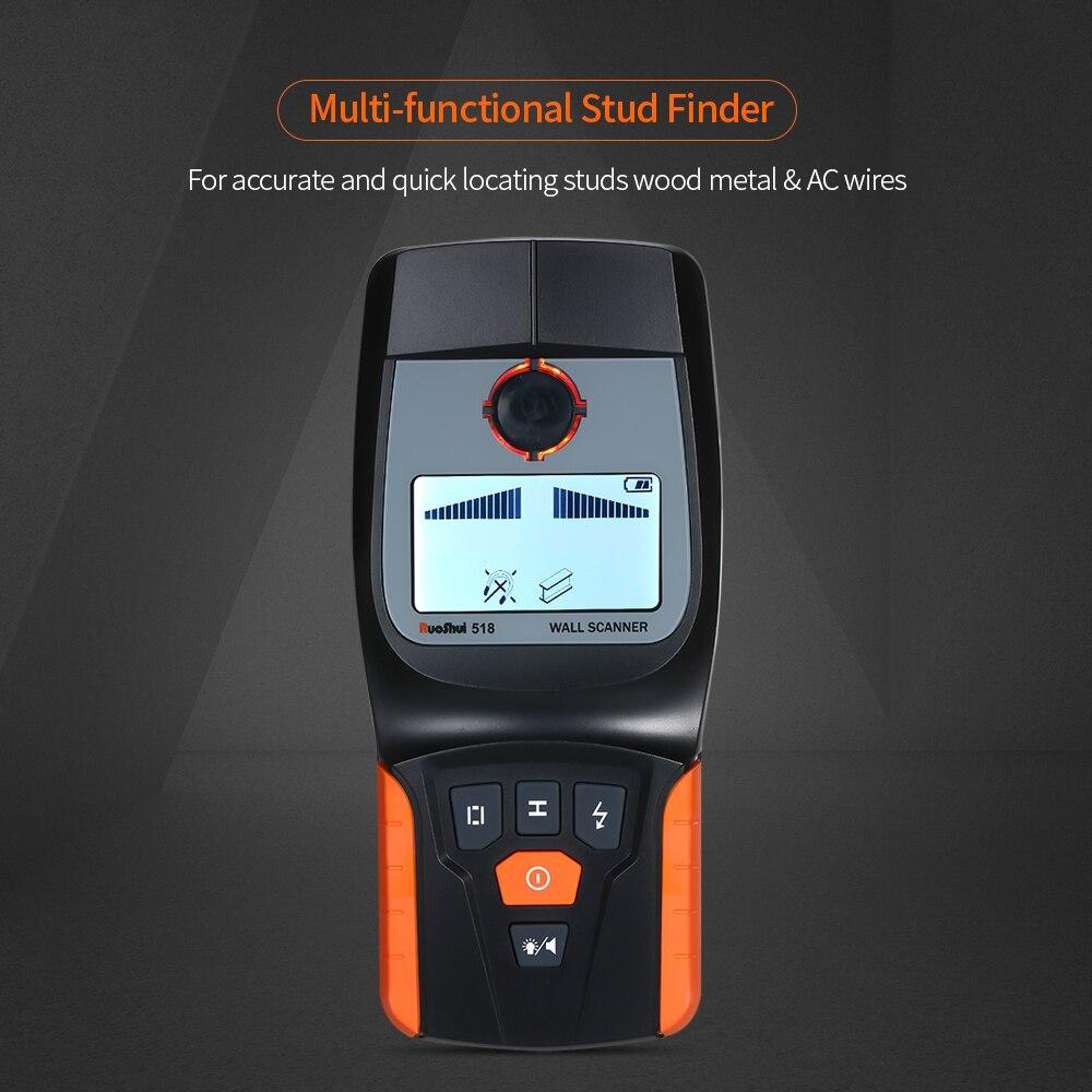 Détecteur de métaux magnétique de Scanner de mur de détecteur de goujon de mur tenu dans la main