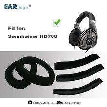 Almohadillas de repuesto para auriculares Sennheiser HD700 HD 700, piezas de auriculares de HD 700, funda para auriculares de cuero