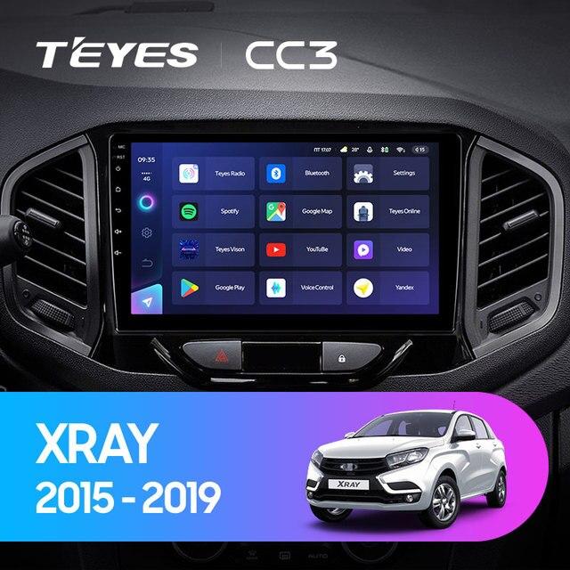 TEYES CC3 Штатная магнитола For Лада ВАЗ Xray For LADA Xray X ray 2015 - 2019 до 8-ЯДЕР, до 6 + 128ГБ 27EQ + DSP carplay автомагнитола 2 DIN DVD GPS android 10 мультимедиа автомобиля головное устройство 2