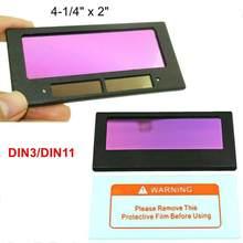 Lentes de soldadura de oscurecimiento automático, lentes de Color de oscurecimiento automático, filtro de energía auténtica, pantalla grande, Sola Q0E7, 1 ud.