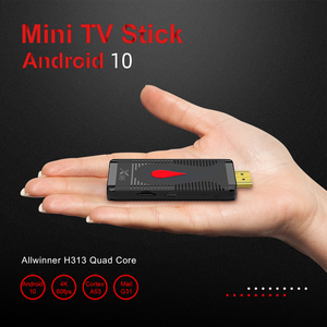 Image 5 - אנדרואיד 10 טלוויזיה מקל X96 S400 Allwinner H313 Quad Core 2GB 16GB חכם טלוויזיה תיבת 4K 60fps h.265 2.4G Wifi Google Media Player Dongle