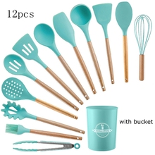 9/11/12 Pcs Kitchenware Silicone Heat Resistant Kitchen Cooking Utensils Non-Stick Baking Tool Cooking Tool Sets Baking Tools недорого