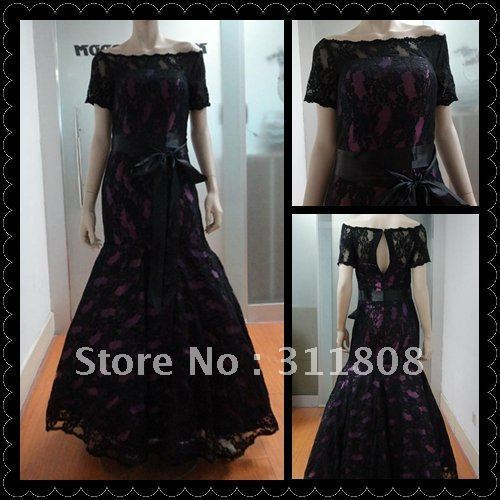 Off The Shoulder Short Sleeve Charming Lace Real Photo Modest Mermaid Evening Gown 2019 Mother Of The Bride Dresses