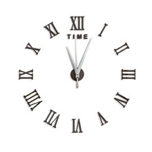2019 3D Acrylic DIY Wall Clock Mute Clock Quartz Watch Large Decorative Wall Clock Modern Home Decor Living Room Mirror Sticker funlife 3d diy moon stars clock acrylic mirror wall sticker