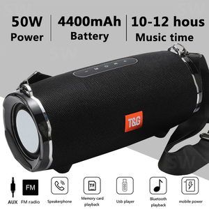 TG187 High Power 50W Bluetooth Speaker Waterproof Portable Column For PC Computer Speakers Subwoofer Boom Box Music Center Radio