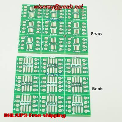 DHL/EMS 500pcs TSSOP SOP8 1.27mm SSOP8 0.65mm 4~8P To DIP8 2.54mm IC PCB Adapter Converter-PCB Connector-A6