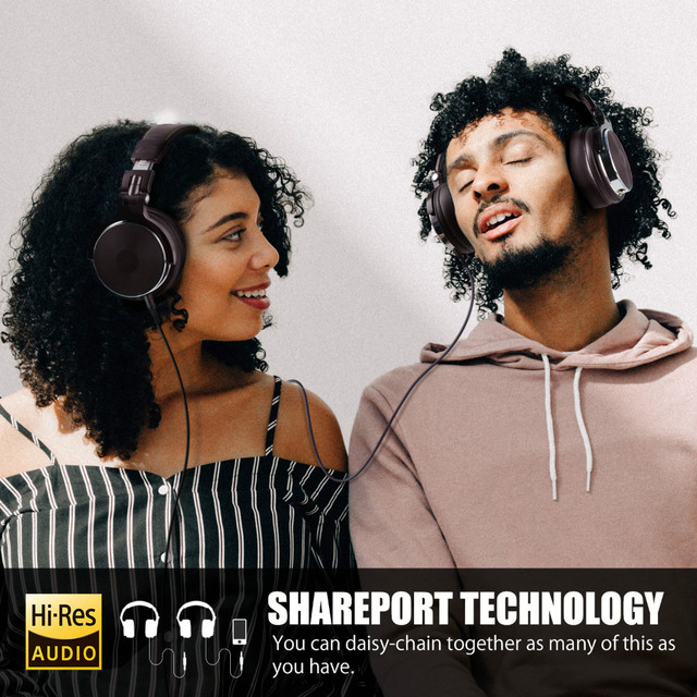 Oneodio Foldable Over-Ear Headphone Professional Studio Pro Monitors DJ Headset 5