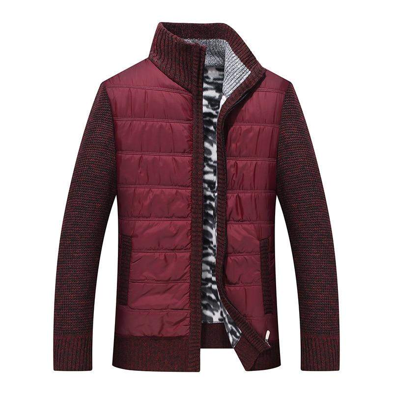Full Cashmere Sweater Men Fleece Knitwear Mens Cardigan Clothes Patchwork Outerwear Warm Winter Male Sweater Jumper Men's Coat