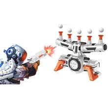 1set Air Target Shooting Game Neutral Plastic Luminous Suspension Target Flying Ball Shooting Game Toy