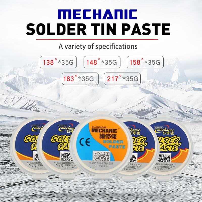 Mechanic SMD SMT BGA Solder Paste Leaded Lead-Free Low/Medium/High Temperature Tin Cream Soldering Flux BGA Reballing Tools