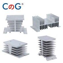CG Radiator For Single Phase 10A 25A 40A 60A 80A 100A 120A 200A Aluminum Heat Sink SSR-10DA 25DA 40DA 1 Phase Solid State Relay
