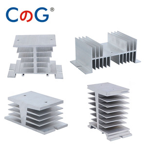 CG Radiator For Single Phase 10A 25A 40A 60A 80A 100A 120A 200A Aluminum Heat Sink SSR-10DA 25DA 40DA 1 Phase Solid State Relay(China)