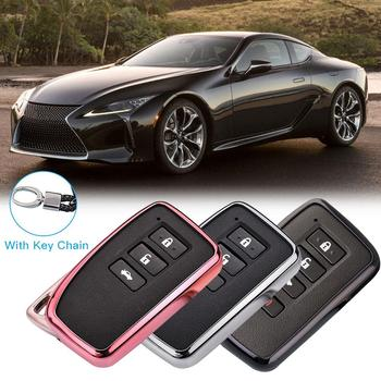 2019 New Soft TPU Key Cover Case For Lexus NX GS RX IS ES GX LX RC 200 250 350 LS 450H 300H Car Styling Key Protection Keychain image