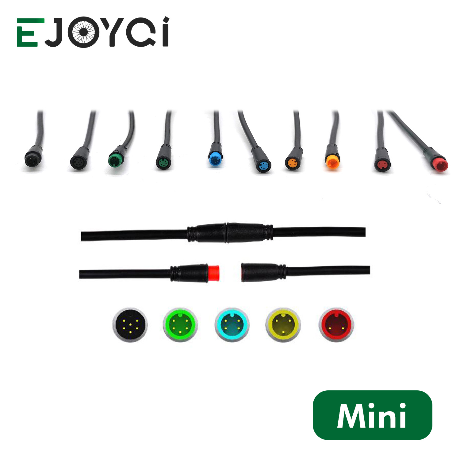 EJOYQI New Julet 2 3 4 5 6 Pin Waterproof Cable Connector Ebike Extension Cable For Ebike Light Throttle Ebrake Display