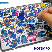 50pcs Cute Lilo Stitch Stickers Cartoon Stationery Anime Scrapbooking for Children Mobile Phone Laptop Guitar Skateboard Bike