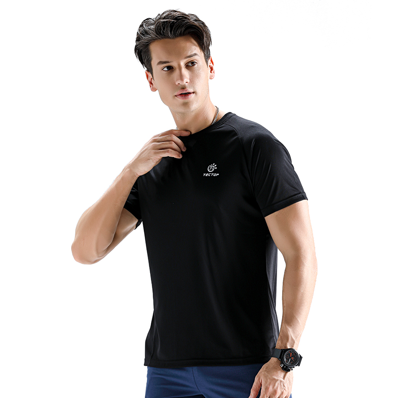 Outdoor Men's Quick Drying T-shirt Sweat Absorbent Breathable For Hiking Camping Climbing Fishing