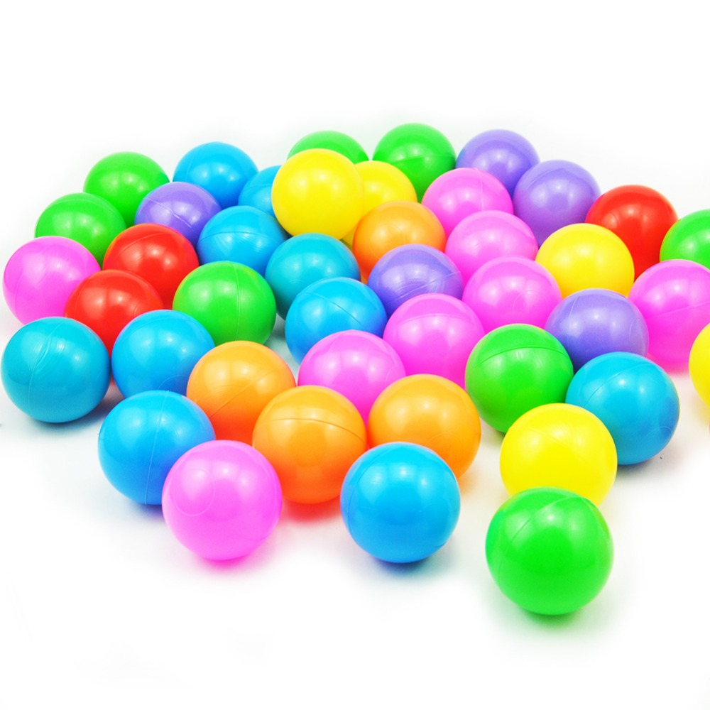 200 Pcs/lot Ocean Wave Ball Eco-Friendly Colorful Ball Soft Funny Baby Kid Swim Pit Toy Water Pool Plastic Ocean Ball