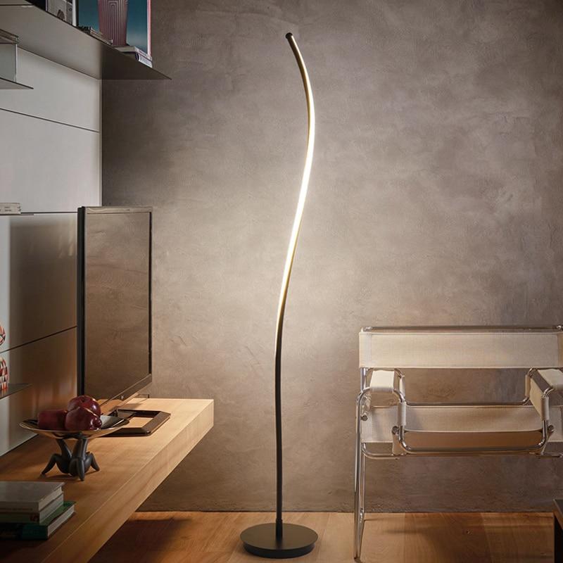Led Modern Simple Floor Lamp Standing Lamp Art Decoration Nordic Style For Living Room Bedroom Study Room Light