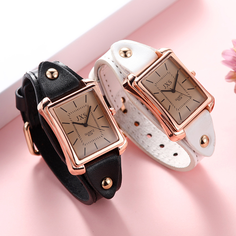 Bracelet Watches Clock Dress Square Contracted Top-Brand Women Ladies Crystal